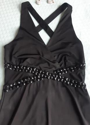 Вечернее платье в пол sisters point р. s выпускной длинное черное