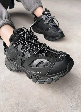 Шикарные женские кроссовки премиум качества чёрные
