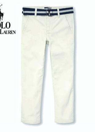 Стильные брендовые брюки чиносы, белые штаны polo ralph lauren оригинал 10лет
