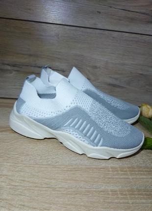 Легкие кроссовки 🌺 мокасины стрейч дышащие текстиль сетка легкие на лето1 фото