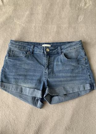 Джинсовые шорты с подворотами h&m