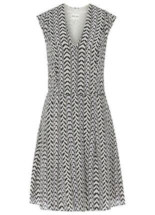 Шелковое нарядное летнее стильное платье от reiss