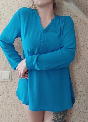 Женская летняя рубашка, блузка шифоновая, рубашка из шифона