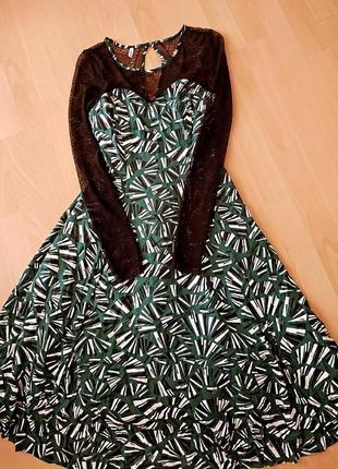 Винтажное ,нереально красивое платье миди с пышной юбкой