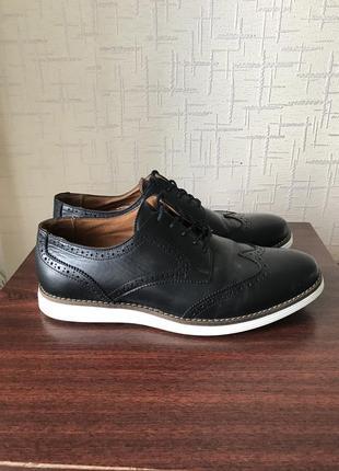 Туфли кожаные оксфорды oxmox