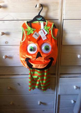 Костюм карнавальный  на хеловин 0,5-1,5 года тыква helloween
