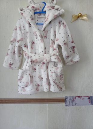 Детский халатик с ушками на 2-3 года