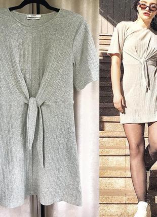 Платье на запах pull&bear с короткими рукавами (м)