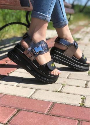 Босоножки на платформе 🍓 на танкетке сандалии лето босоніжки сандалі спортивные