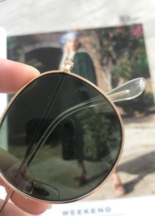 Солнцещащитные очки ray ban раунды5 фото