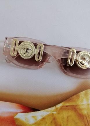Эксклюзивные прозрачно розовые брендовые солнцезащитные женские очки шикарные!!!3 фото