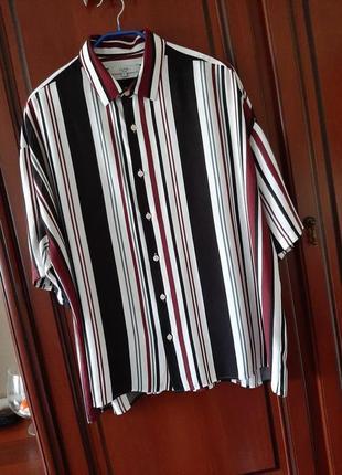 Женская рубашка с коротким рукавом из натуральной ткани  54-56 размер, турция