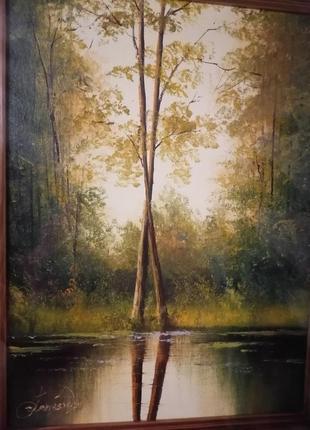 Картина холст, 30х40 в деревянной рамке