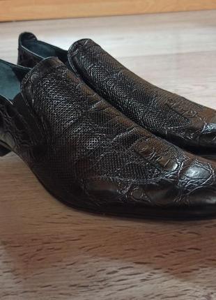 Мужские кожаные туфли размер 42,5, стелька 29 см