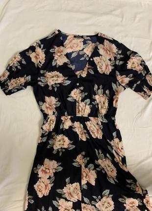 Платье миди бохо в цветах