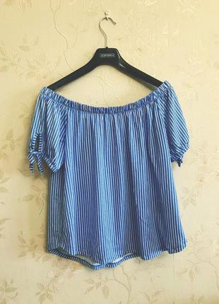 Новая блуза с открытыми плечами h&m размер m
