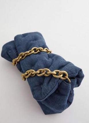 Новая трендовая женская джинсовая сумочка зара оригинал
