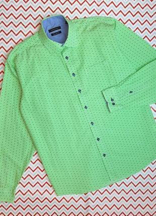 😉1+1=3 интересная мужская рубашка сорочка с длинным рукавом morgan, размер 50 - 52