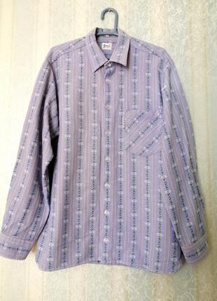 Винтажная рубашка с цветочным орнаментом