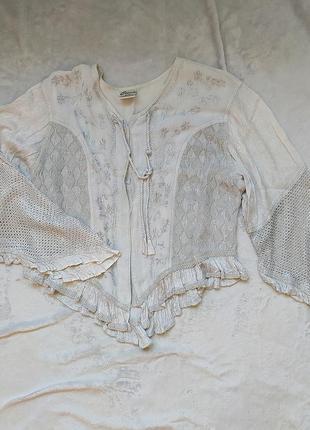 Шикарная винтажная блуза