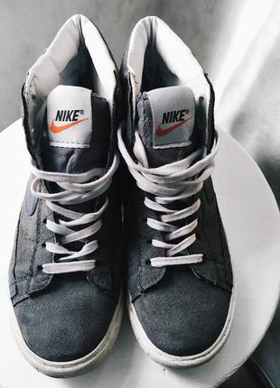 Кроссовки nike blazer замшевые 37 размер