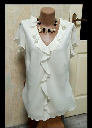 """Блузка нарядная лёгкая р 54 """"bonmsrche"""""""