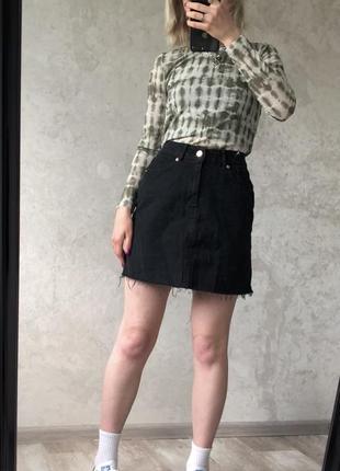 Юбка мини джинсова спідниця джинсовая юбка