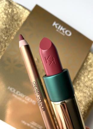 Набор kiko milano holiday gems timeless lip kit