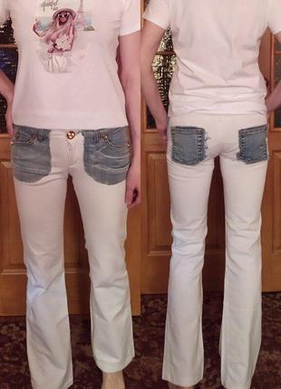 Суперские белые джинсы
