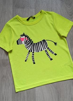Красивучая футболочка george на 2-3 года, реально до 4х лет можно