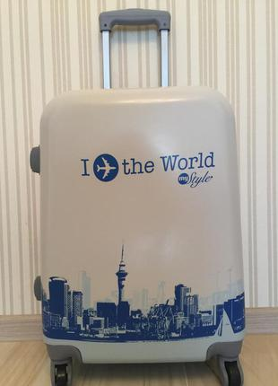 Склад! яркий чемодан польша валіза на колесах дорожная сумка