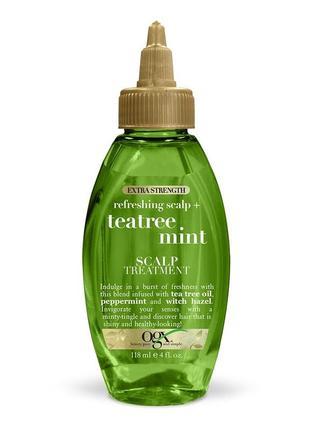 Ogx extra strength refreshing scalp + средство для лечения кожи головы с мятой и чайным деревом