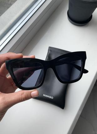 Очки, окуляри, сонцезахисні, солнцезащитные, леопардові, леопардовые, квадратные, mango 77010519-mar
