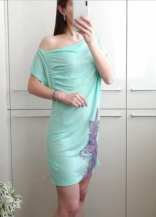 Летнее пляжное  платье с принтом 🌺