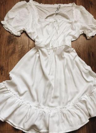 Платье белое na-kd,сукня біла в стилi asos,zara