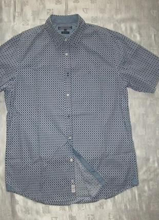 Мужская рубашка с коротким рукавом тенниска tommy hilfiger оригинал