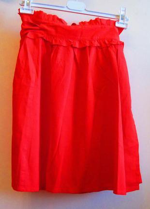 Легкая яркая красная юбка yamamay котон размер s-m