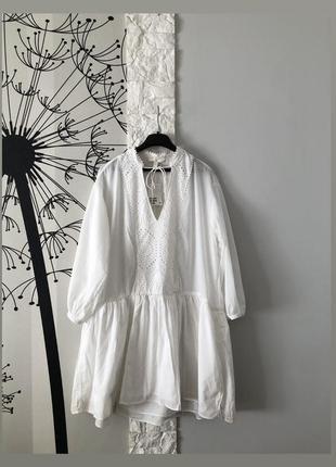 Белое платье воздушное легкое h&m