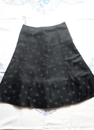 Чёрная в горох юбка солнце пышная винтаж спідниця вінтаж