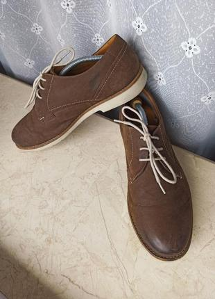 Туфли туфлі брогги оксфорды clarks 44 р оригинал