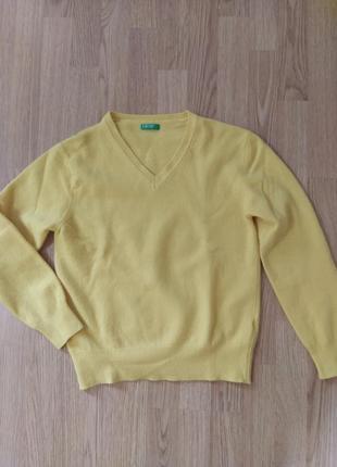 Шикарный лимонный шерстяной джемпер united colors of benetton 🌺 супер цена до 17.06.21!!