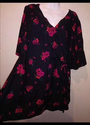 🌺 🌿 🍃 очень красивая блуза туника натуральная ткань 🌺 🌿 🍃