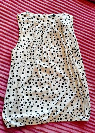 M&co размер 12 блуза без рукавов в горох