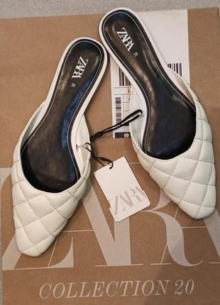 Новые женские шлёпки-мюли зара оригинал размер 39