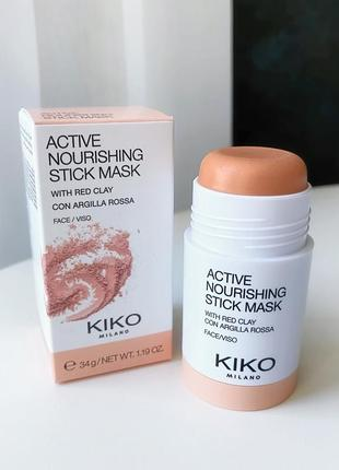 Маска с глиной kiko milano active nourishing stick mask