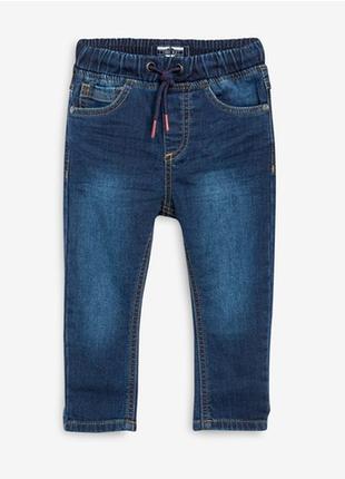 Трикотажные джинсы без застежки на резинке next