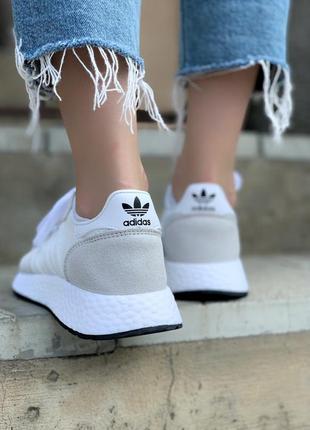 Женские кроссовки adidas marathon white/grey, белые/серые6 фото
