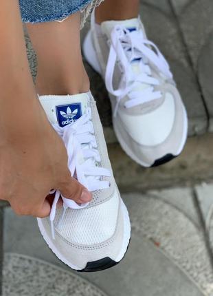 Женские кроссовки adidas marathon white/grey, белые/серые8 фото