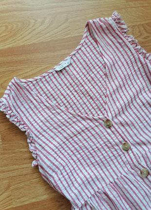 Женская легкая летняя трендовая рубашка - топ papaya - размер 44-464 фото