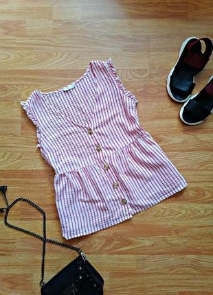 Женская легкая летняя трендовая рубашка - топ papaya - размер 44-46